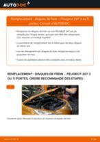 Montage Disque de frein PEUGEOT 207 (WA_, WC_) - tutoriel pas à pas