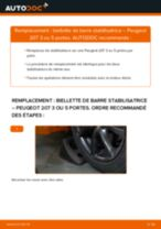 Comment changer : biellette de barre stabilisatrice avant sur Peugeot 207 3 ou 5 portes - Guide de remplacement