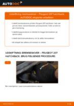 Udskift bremseskiver for - Peugeot 207 hatchback   Brugeranvisning