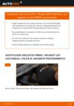 Cómo cambiar: discos de freno de la parte delantera - Peugeot 207 hatchback | Guía de sustitución