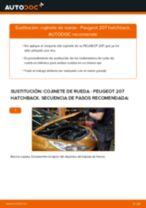 Cambio Juego de cojinete de rueda delantera izquierda derecha PEUGEOT bricolaje - manual pdf en línea