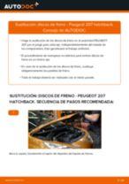 Cambiar Discos de Freno PEUGEOT 207: manual de taller