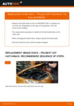 How to change rear brake discs on Peugeot 207 hatchback – replacement guide