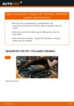 Byta lambdasond på Peugeot 207 hatchback – utbytesguide