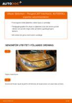 Byta fjäderben fram på Peugeot 207 hatchback – utbytesguide
