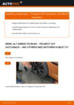 Montering Støtdempere PEUGEOT 207 (WA_, WC_) - steg-for-steg manualer