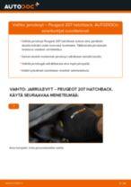 Kuinka vaihtaa jarrulevyt eteen Peugeot 207 hatchback-autoon – vaihto-ohje