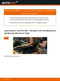 Wie der Wechsel durchführt wird: Luftfilter 1.4 HDi Peugeot 207 WA tauschen
