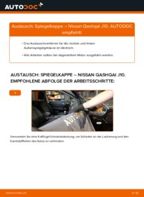 Wie der Wechsel durchführt wird: Spiegelkappen 1.5 dCi Nissan Qashqai j10 tauschen