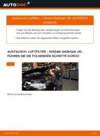 Wie der Wechsel durchführt wird: Luftfilter 1.5 dCi Nissan Qashqai j10 tauschen