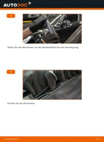 Wie der Wechsel durchführt wird: Scheibenwischer 1.5 dCi Nissan Qashqai j10 tauschen