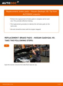 How to carry out replacement: Brake Pads on 1.5 dCi Nissan Qashqai j10