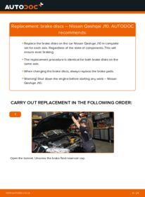 How to carry out replacement: Brake Discs on 1.5 dCi Nissan Qashqai j10