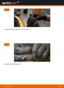Kaip atlikti keitimą: 1.4 HDi PEUGEOT 207 (WA_, WC_) Valytuvo gumelė