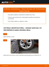 Kaip atlikti keitimą: 1.5 dCi Nissan Qashqai j10 Amortizatorius