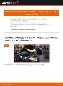 Kaip atlikti keitimą: 1.5 dCi Nissan Qashqai j10 Stabdžių Kaladėlės