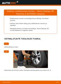 Kaip atlikti keitimą: 1.5 dCi Nissan Qashqai j10 Pasukimo trauklė