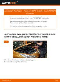Wie der Austausch bewerkstelligt wird: Radlager beim PEUGEOT 207