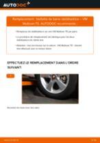 Comment changer : biellette de barre stabilisatrice avant sur VW Multivan T5 - Guide de remplacement