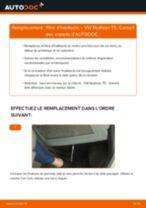 Comment changer : filtre d'habitacle sur VW Multivan T5 - Guide de remplacement