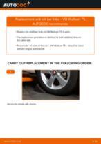 Changing Brake Pad Wear Sensor VW MULTIVAN: workshop manual