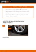 Kuinka vaihtaa koiranluu eteen VW Multivan T5-autoon – vaihto-ohje