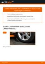 Kuinka vaihtaa raidetangon pää VW Multivan T5-autoon – vaihto-ohje