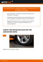 Πώς αλλαγη και ρυθμιζω Ακρα ζαμφορ VW MULTIVAN: οδηγός pdf