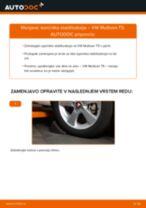Kako zamenjati in prilagoditi Zglob stabilizatorja VW MULTIVAN: vodnik pdf