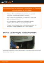 Recomendações do mecânico de automóveis sobre a substituição de VW VW Multivan T5 2.0 TDI Pinças de Travão