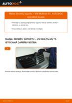 Kā nomainīt un noregulēt Bremžu suports VW MULTIVAN: pdf ceļvedis
