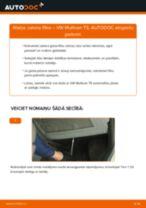Kā nomainīt un noregulēt Salona filtrs VW MULTIVAN: pdf ceļvedis