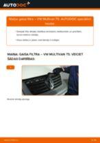 VW MULTIVAN Gaisa filtrs nomaiņa: rokasgrāmata