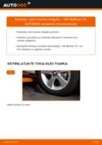 Automechanikų rekomendacijos VW VW Multivan T5 2.0 TDI Stabdžių diskas keitimui