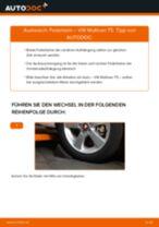 VW MULTIVAN V (7HM, 7HN, 7HF, 7EF, 7EM, 7EN) Stoßdämpfer wechseln vorderachse und hinterachse Anleitung pdf