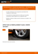 Comment changer : ressort de suspension avant sur VW Multivan T5 - Guide de remplacement