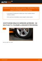 Come cambiare braccio inferiore anteriore su VW Multivan T5 - Guida alla sostituzione