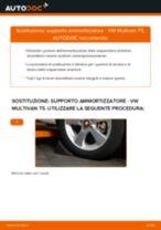 Come cambiare supporto ammortizzatore della parte anteriore su VW Multivan T5 - Guida alla sostituzione
