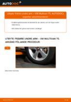 Byta främre undre arm på VW Multivan T5 – utbytesguide