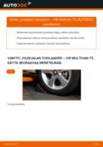 Kuinka vaihtaa jousijalan tukilaakeri eteen VW Multivan T5-autoon – vaihto-ohje
