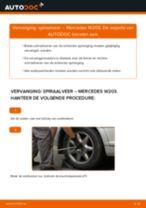 Hoe spiraalveer achteraan vervangen bij een Mercedes W203 – vervangingshandleiding