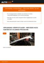 Hoe veerpootlager vooraan vervangen bij een Mercedes W203 – vervangingshandleiding