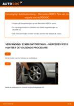 Hoe stabilisatorstang achteraan vervangen bij een Mercedes W203 – Leidraad voor bij het vervangen