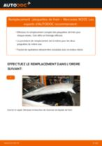 Comment changer : plaquettes de frein arrière sur Mercedes W203 - Guide de remplacement