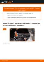 Comment changer : filtre à carburant sur Audi A6 4F2 - Guide de remplacement
