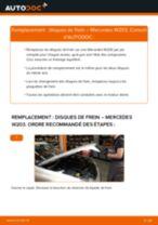 Comment changer : disques de frein avant sur Mercedes W203 - Guide de remplacement