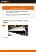 Changement Filtre à Air MERCEDES-BENZ C-CLASS : manuel d'atelier