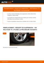Comment changer : ressort de suspension arrière sur VW Multivan T5 - Guide de remplacement