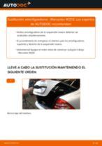 Cómo cambiar: amortiguadores de la parte trasera - Mercedes W203 | Guía de sustitución