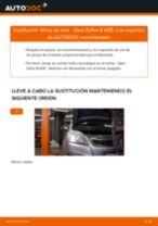 Cambiar Cable De Freno De Mano OPEL ZAFIRA: manual de taller
